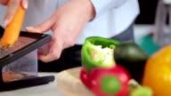 Grating carrot for salad video
