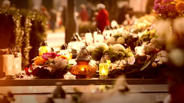 Graveyard, holiday of the deceaseds. video
