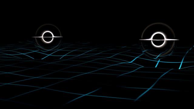 Gravitational waves simulation. video