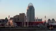 Great American Ball Park Arena Cincinnati Ohio at sunset  - CINCINNATI, OHIO USA video