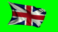 Great Britain Flag Waving in Wind video