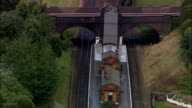 Great Central Railway  - Aerial View - England, Leicestershire, Charnwood District, United Kingdom video