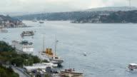 Great istanbul scene over the bosphorus brigde video