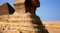 Great Sphinx in front of Pyramids of Giza, Cairo Egypt video