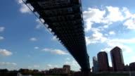 Great view on an old Bridge over Ohio River  - CINCINNATI, OHIO USA video