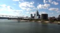 Great view on Cincinnati skyline  - CINCINNATI, OHIO USA video