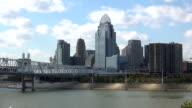 Great view on Cincinnati skyline from Newport pier  - NEWPORT, KENTUCKY USA video