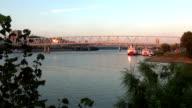 Great view on Ohio River at sunset  - CINCINNATI, OHIO USA video