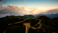 great wall from day to night,time lapse video