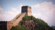 Great Wall of china Clouds CU video