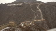 Great Wall of China Extending Into Distance video