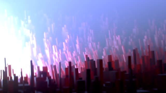 Greeble - abstract shot of red and blue crystals with shallow dof. Macro, dolly. video