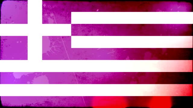 Greece Flag - Grunge. HD video
