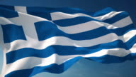 4K Greece Flag - Loopable video