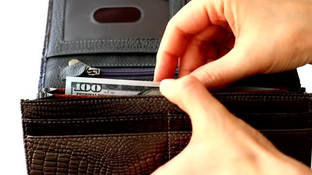 Greedy hides hundred dollars back to wallet video