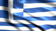 Greek charming flag video