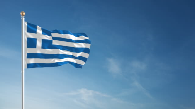 4K Greek Flag - Loopable video