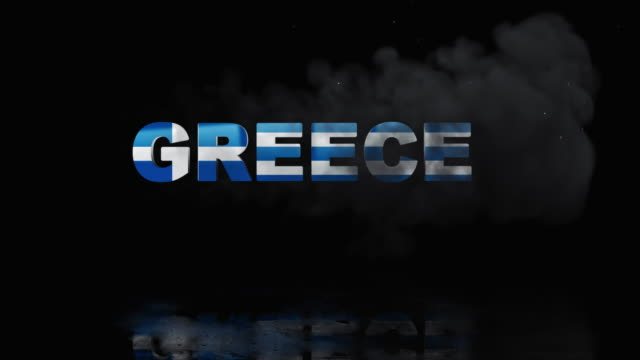 Greek Flag On Title is Revealing with Fire video