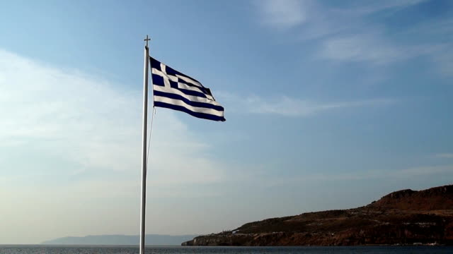 HD: Greek Flag video