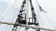 Greek Flags waving in the Wind video