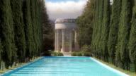 Greek Temple Reflecting Pool video