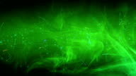 Green abstract space video