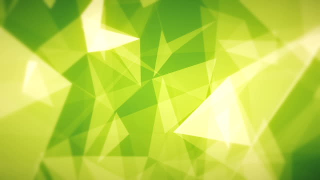 Green Abstract Triangles (Loopable) video
