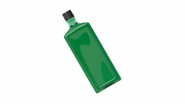 Green alcohol bottle video