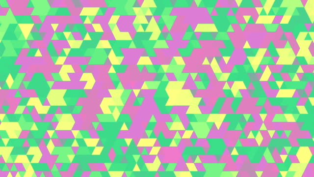 Green and Purple Triangles video