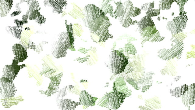 Green animated camouflage background video