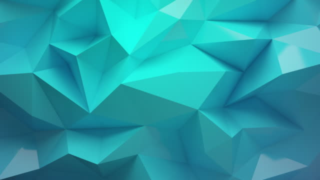 green background with polyhedron 4k video