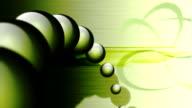 Green Balls Loop Background video