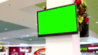 Green billboard for your ad at tv video