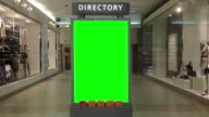 Green billboard for your ad inside Metropolis at Metrotown video