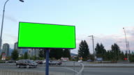 Green billboard for your ad video
