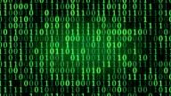 green binary digital code loop video