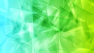Green blue tech geometric polygonal video animation video