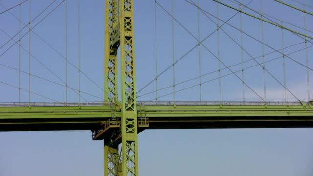 Green bridge w/passing truck. video