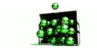Green Christmas Ornaments (1080 HD) video
