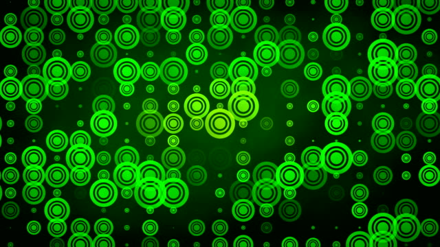 green circles loop video