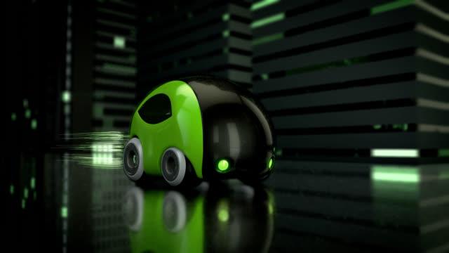 Green concept car design - 3D Animation video