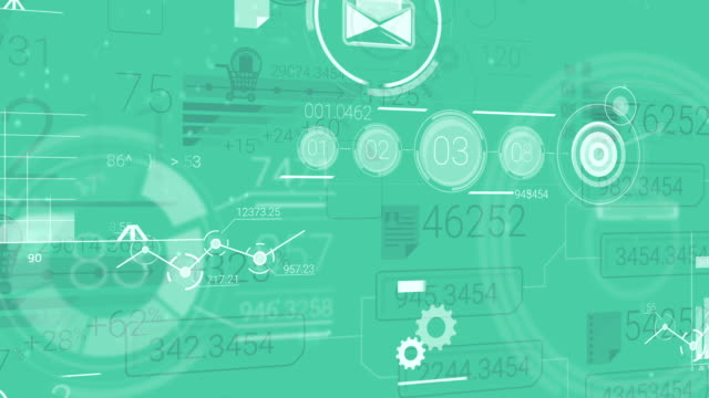 Green Corporate Background With Abstract Elements Of Infographics video