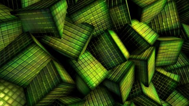 Green cubes video