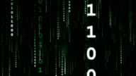 Green Data Stream (Big Vertical) video
