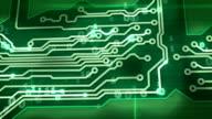 green digital circuit board pan loop video