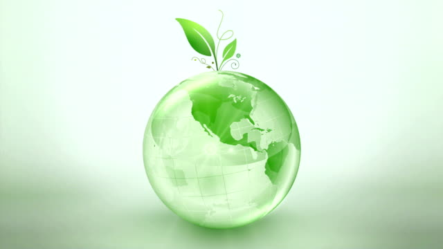 Green Earth Spinning Globe video