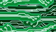 green electronic circuit plates alpha video