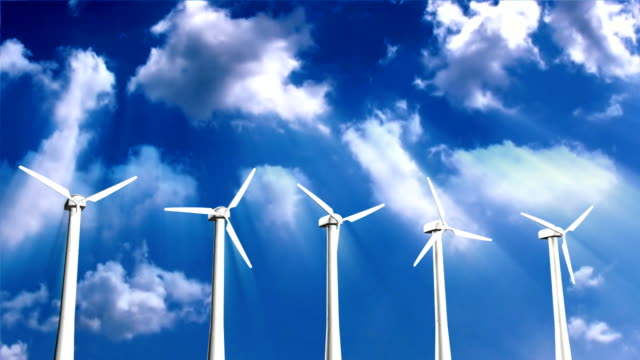 Green energy,wind turbine with Alpha video