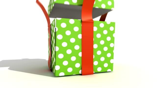 Green Gift Box video