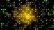 Green Glittering Light Grid video